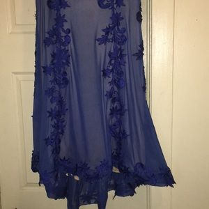 zoey grey Dresses - ROYAL BLUE LACE PROM DRESS